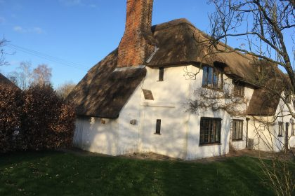 Water-reed thatched house in Stelling Minnis
